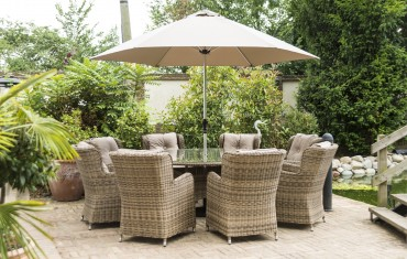 Katie Blake Garden Furniture Seville 8 Seat Dining Set