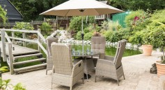 Katie Blake Garden Furniture Sandringham 4 Chair Reclining Set