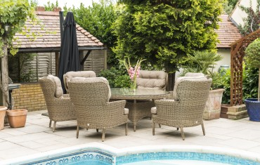 Katie Blake Garden Furniture Mayberry 6 Seat Set Oval