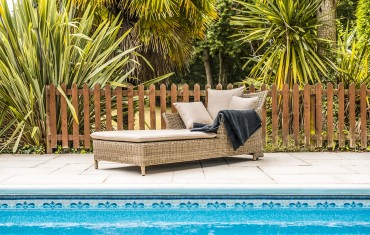 Katie Blake Garden Furniture Mayberry Sun Lounger With Cushion