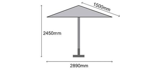 Sturdi Plus 3m Round Aluminium Parasol