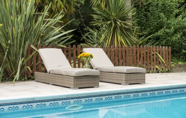 Sandringham Rattan Double sun lounger